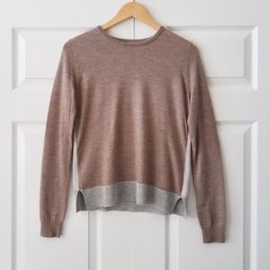 J Brand Wool Cashmere Blend Colorblock Sweater | S